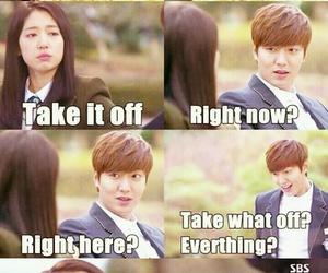 funny, lee min ho, and eun sang image
