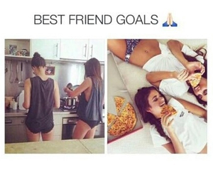 goals, bff, and best friends image