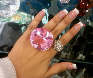 pink, diamond, and nails image