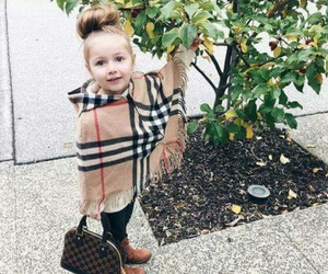 girl, Burberry, and Louis Vuitton image