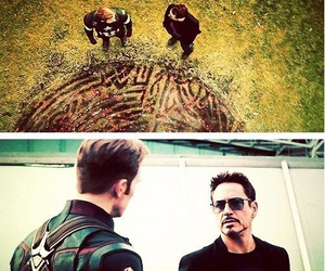 captain america, tony stark, and fun image