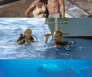into the blue, jessica alba, and paul walker image