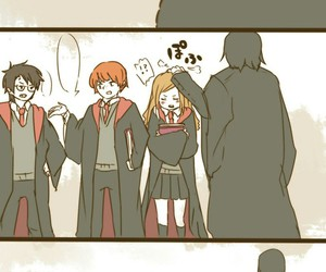 hermione, severus, and snape image