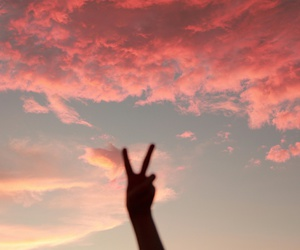 peace, sky, and pink image