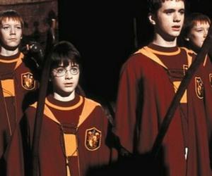 quidditch, boy, and gryffindor image