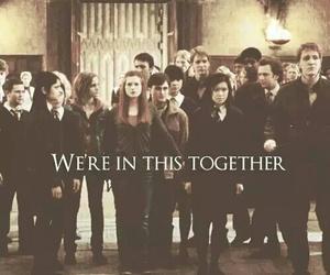 harry potter, hogwarts, and together image