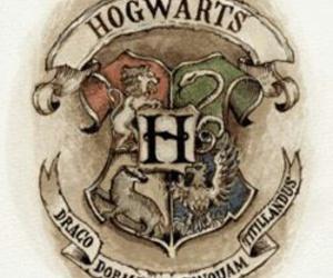 hogwarts, harry potter, and slytherin image