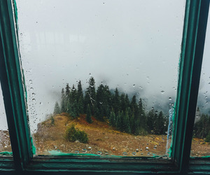 rain, window, and autumn image