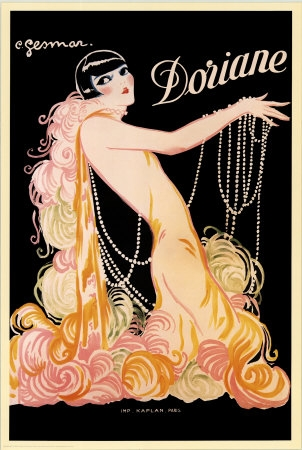 pearls and vintage image