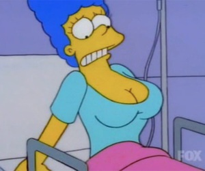 boobs, pastel, and simpsons image