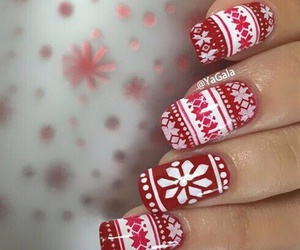 nail, red, and vernie image