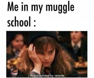 harry potter, muggle, and school image