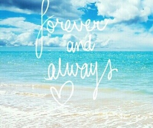 beach, always, and forever image
