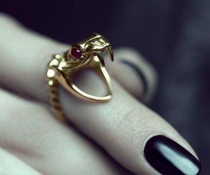 ring, snake, and nails image