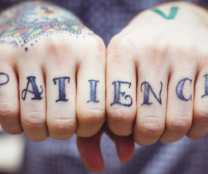 tattoo, patience, and black and white image