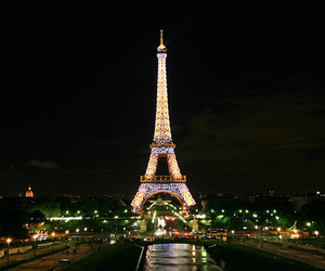 paris, france, and lights image