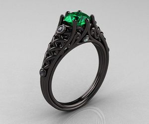 black, jewelry, and ring image