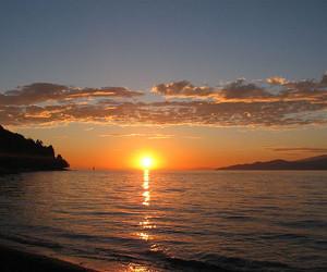 british columbia, sunset, and lights image