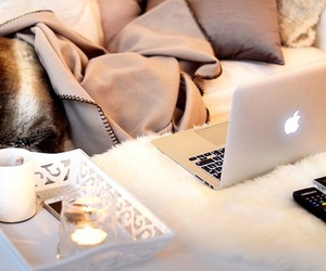 apple, candle, and macbook image