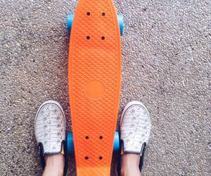 orange, skater, and vans image