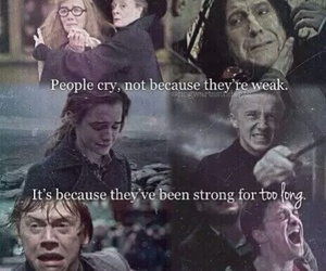 harry potter, ron weasley, and cry image