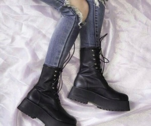 boots, grunge, and jeans image