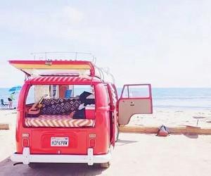 beach, summer, and car image