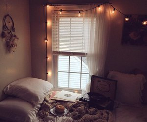lights, room, and bedroom image