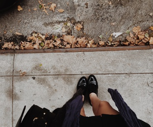 fall, legs, and shoes image