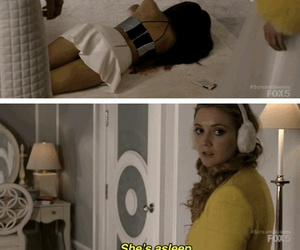 quotes, scream queens, and she's asleep image