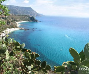 beach, italy, and capo vaticano image