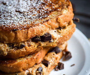 breakfast, chocolate, and french toast image