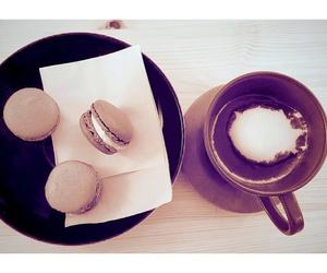 sweets, hotchocolate, and macaron image