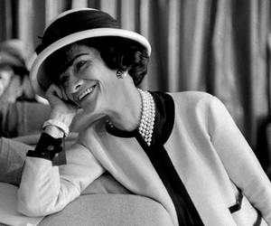 coco chanel, chanel, and black and white image