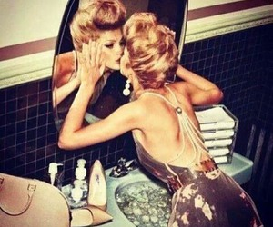 beauty, dress, and mirror image