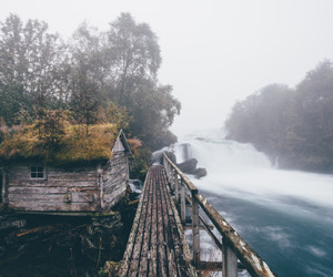 river, fog, and nature image