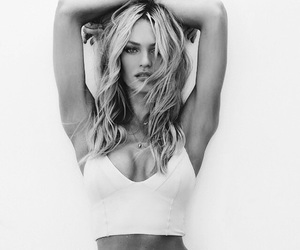 beauty, black and white, and candice swanepoel image