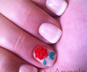 3d, french, and nail art image