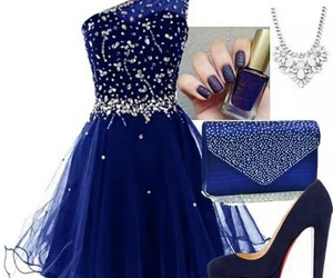 blue, dress, and 😱 image