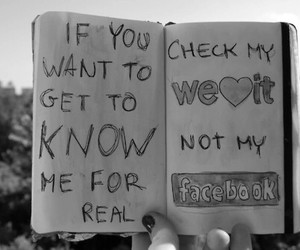facebook, weheartit, and reallife image
