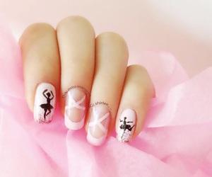 nails, ballet, and pink image