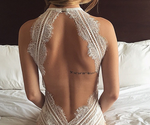back, model, and white image