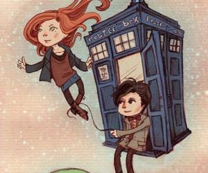doctor who, tardis, and amy pond image