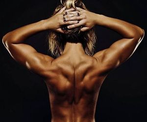 back, workout, and body image