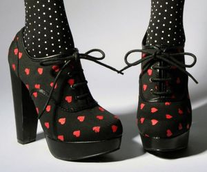 shoes, hearts, and heels image