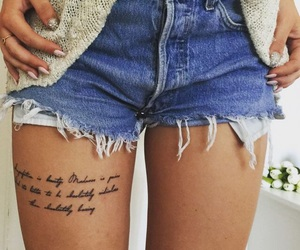ink and leg tattoo image