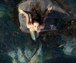 mermaid, beautiful, and girl image