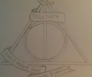 deathly hallows, disegni, and harry potter image