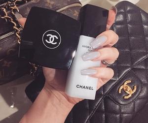 chanel, nails, and makeup image