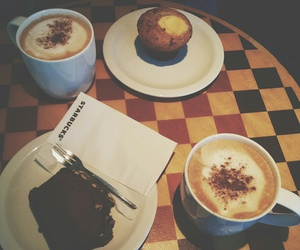 autumn, coffee, and starbucks image